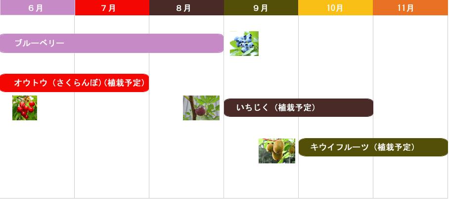 摘み取りカレンダー